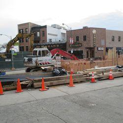 Excavation at Clark & Waveland -