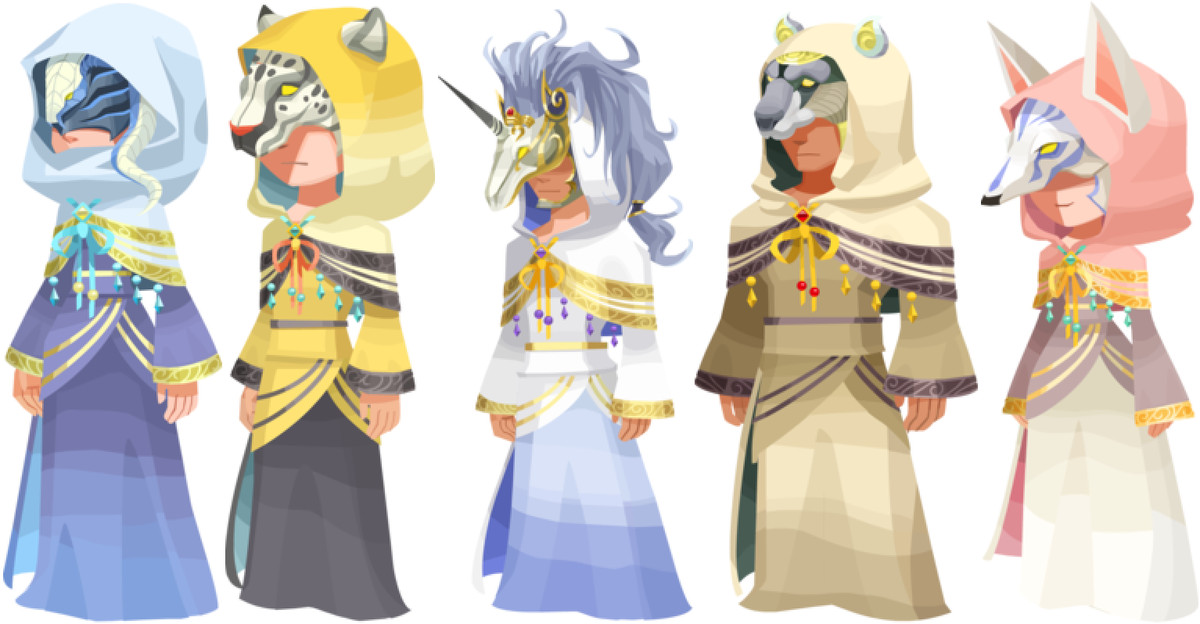 Artwork of the Foretellers from Kingdom Hearts X.