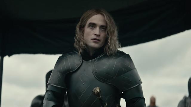 Robert Pattinson in armor.