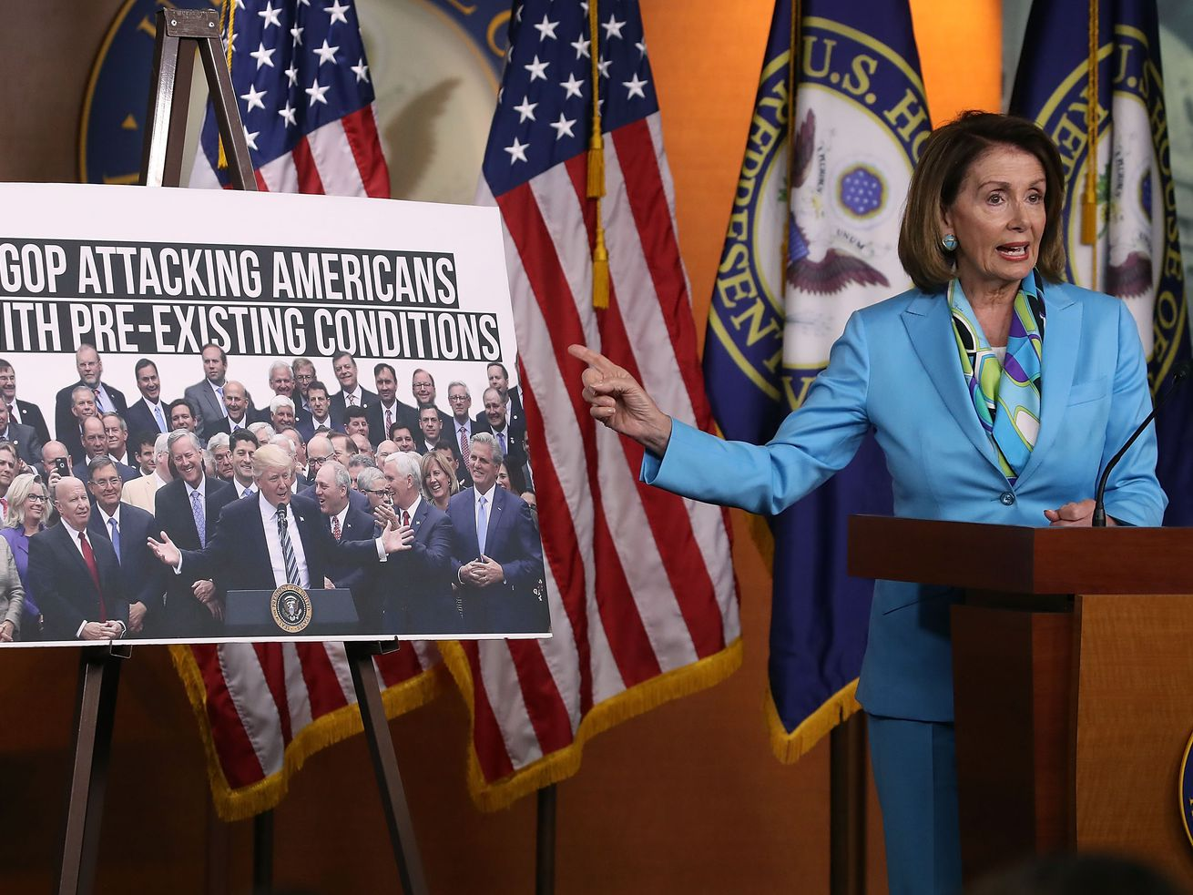 Nancy Pelosi and House Democrats are introducing a bill to strengthen the ACA, also known as Obamacare.