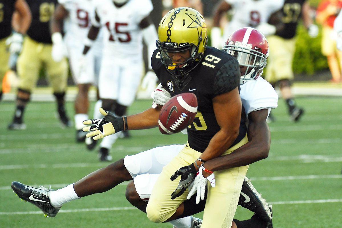 NCAA Football: Alabama at Vanderbilt