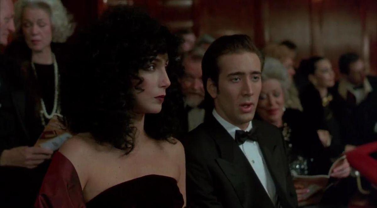 Loretta (Cher) and Ronny (Nicolas Cage) at the opera