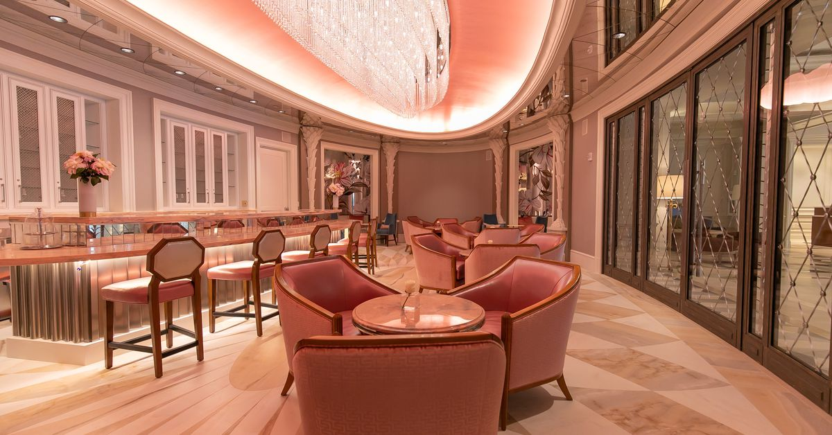 Tour The Super Pink Champagne Bar Opening This Sunday On