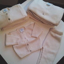 """Found this beautiful sweater set at Christina Lari's <b><a href=""""www.oliviaandowen.com"""">Olivia & Owen</a></b> pop up on Madison. It's so soft—makes me want to have just one more baby…"""