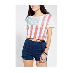 """<b>Truly Madly Deeply</b> <a href=""""http://www.urbanoutfitters.com/urban/catalog/productdetail.jsp?id=28480937&parentid=SEARCH+RESULTS"""">Shredded Flag Cropped Tee</a>, $39"""