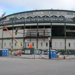 11:20 a.m. Another view of the front of the ballpark -