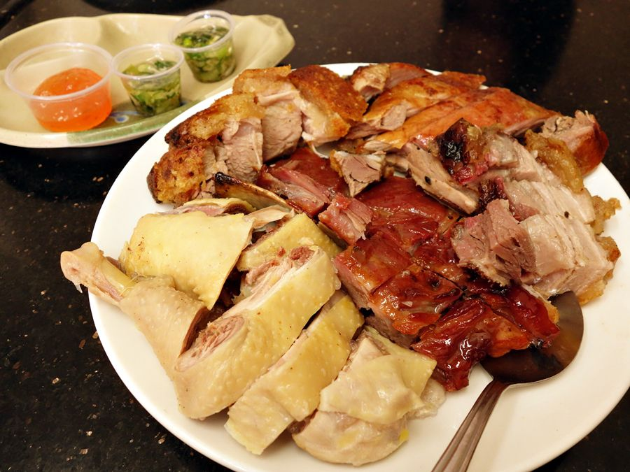 A closeup of roasted duck from Ton Kiang.
