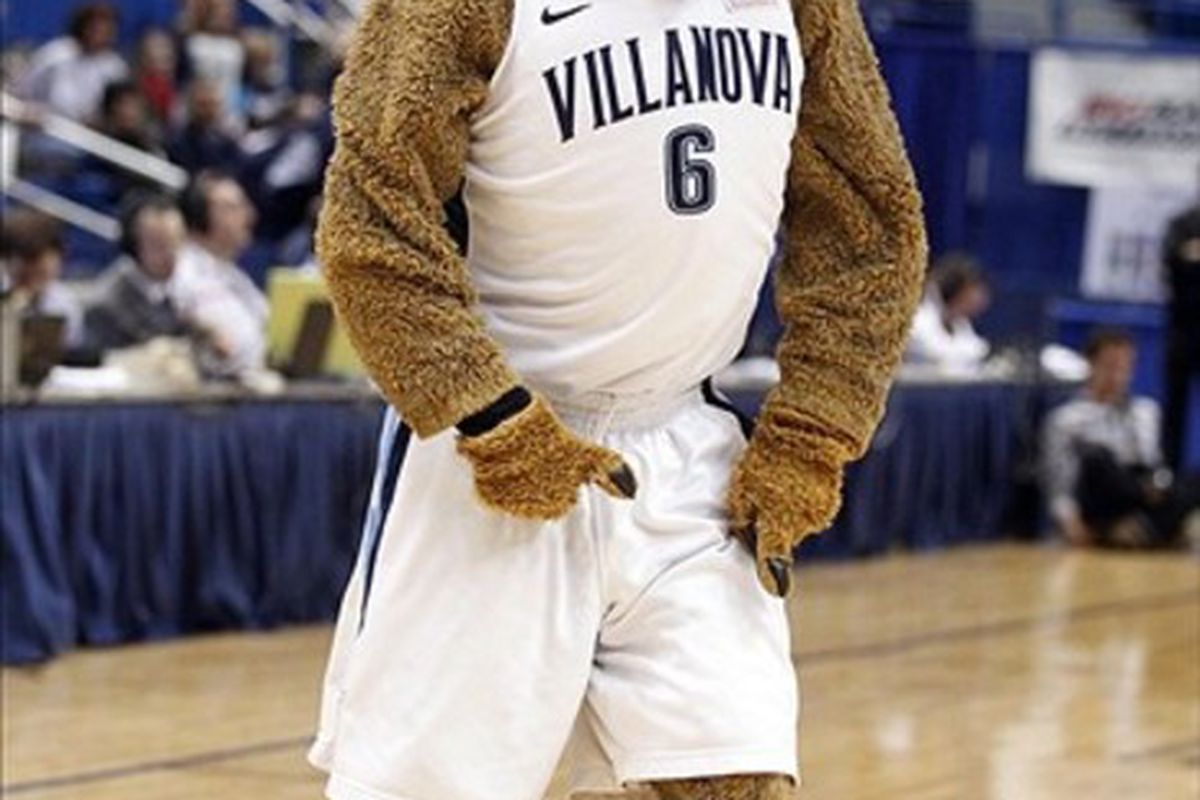 The Wildcat will be ready for action at the Wells Fargo Center. Mandatory Credit: David Butler II-US PRESSWIRE