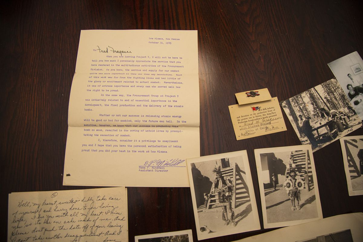 These photographs and papers document Fred Fragassi Sr.'s time with the Manhattan Project.