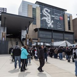 White Sox fans gather at Guaranteed Rate Field for the home opener. | Erin Brown/Sun-Times