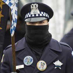 Hundreds of officers attend the funeral for Chicago Police Officer Samuel Jimenez. | Ashlee Rezin/Sun-Times