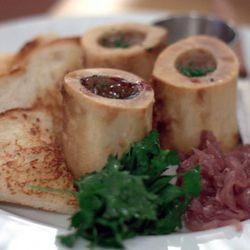 "Brooklyn Star bone marrow with Texas toast by <a href=""http://www.flickr.com/photos/scaredykat/5636522722/in/pool-eater"">scaredy_kat</a>."