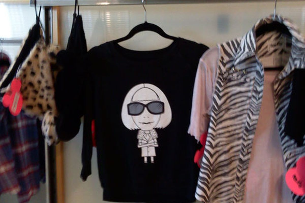 Anna Wintour as a vampire. Seen on a T-shirt in downtown LA.