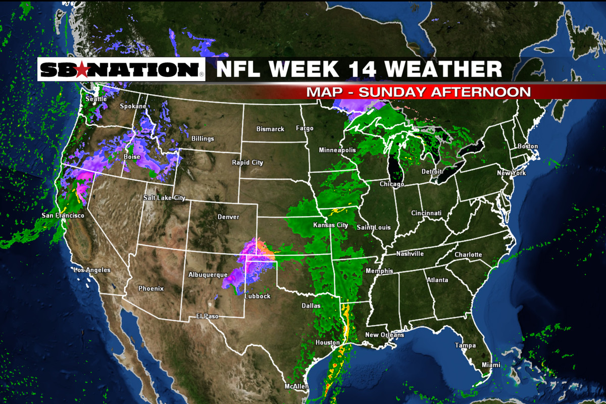 NFL Weather Forecast Week  Couple Of Storm Systems Across The - Map of united states weather forecast