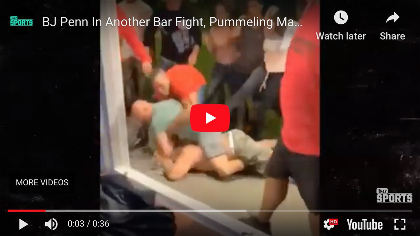 BJ Penn violent bar fight video even worse than Conor McGregor's