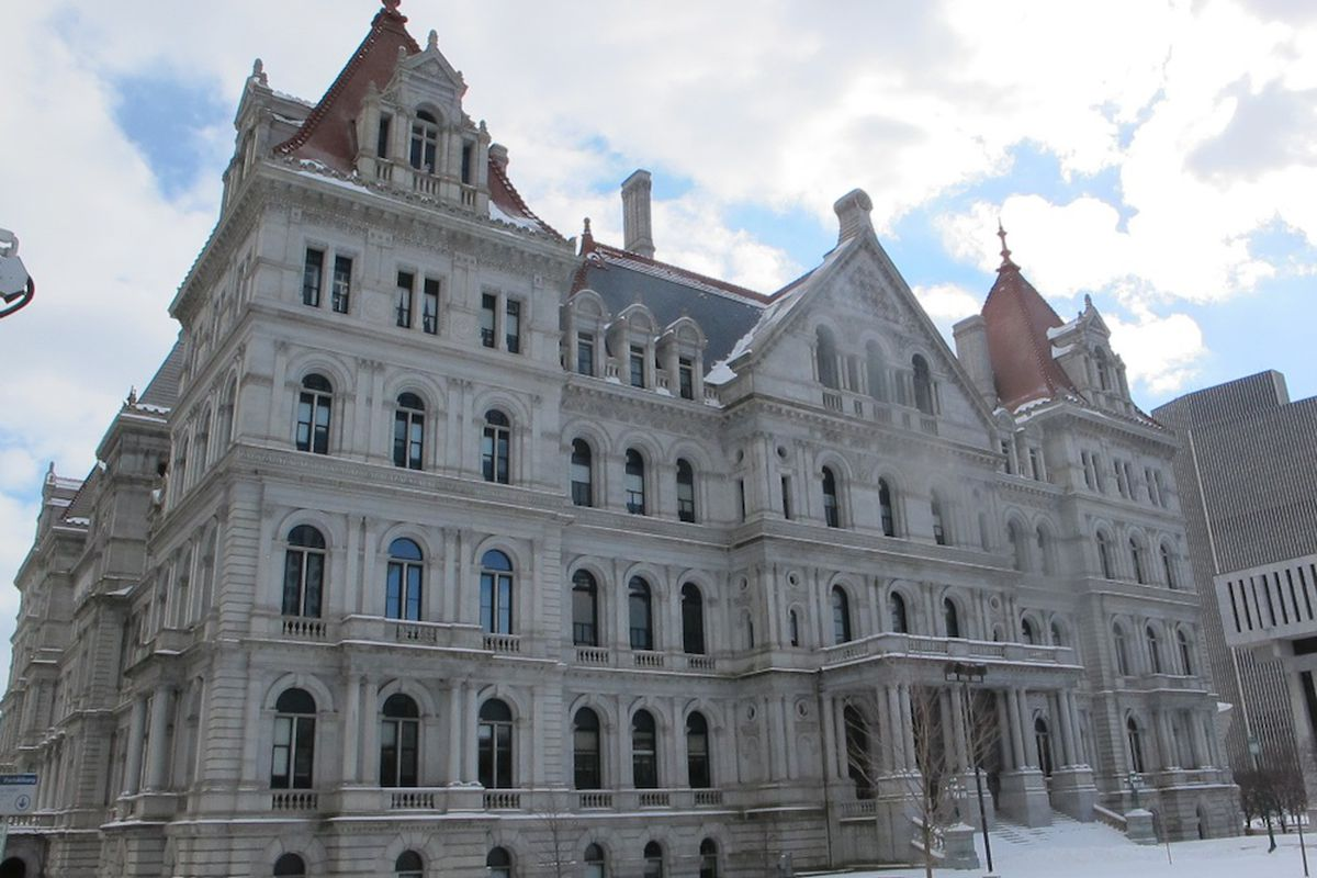 The New York State capitol.