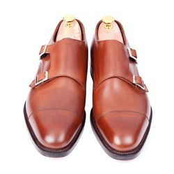 "<b>Sid Mashburn</b> double monk strap shoe, <a href=""http://www.sidmashburn.com/shop/footwear/autumn-brown-sid-mashburn-double-monk-strap.html"">$595</a<"