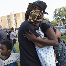 Vigil for Maurice Granton Jr., who was fatally shot by Chicago Police. | Rick Majewski/For the Sun-Times