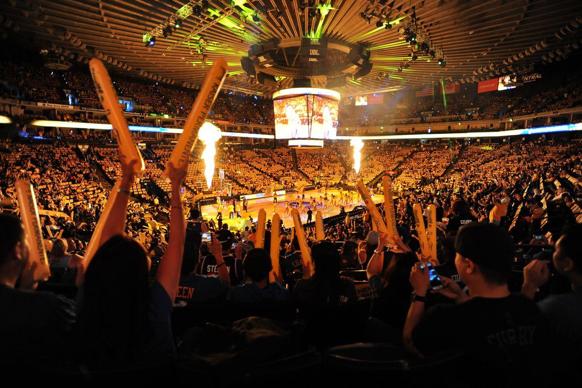 CA: Golden State Warriors Host NBA Finals Game Six Watch Party