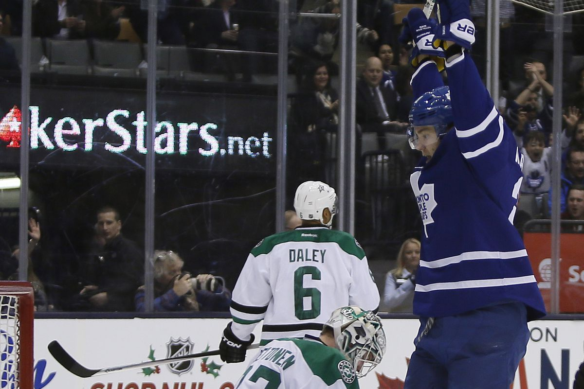 The Leafs struck early and often en route to a 5-3 victory Tuesday night