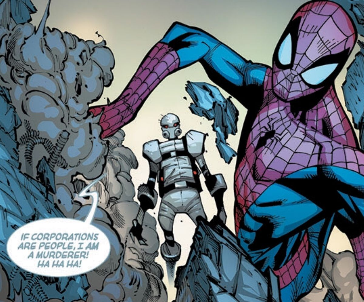 Ghost and Spider-Man in The Amazing Spider-Man #18, Marvel Comics, 2015.