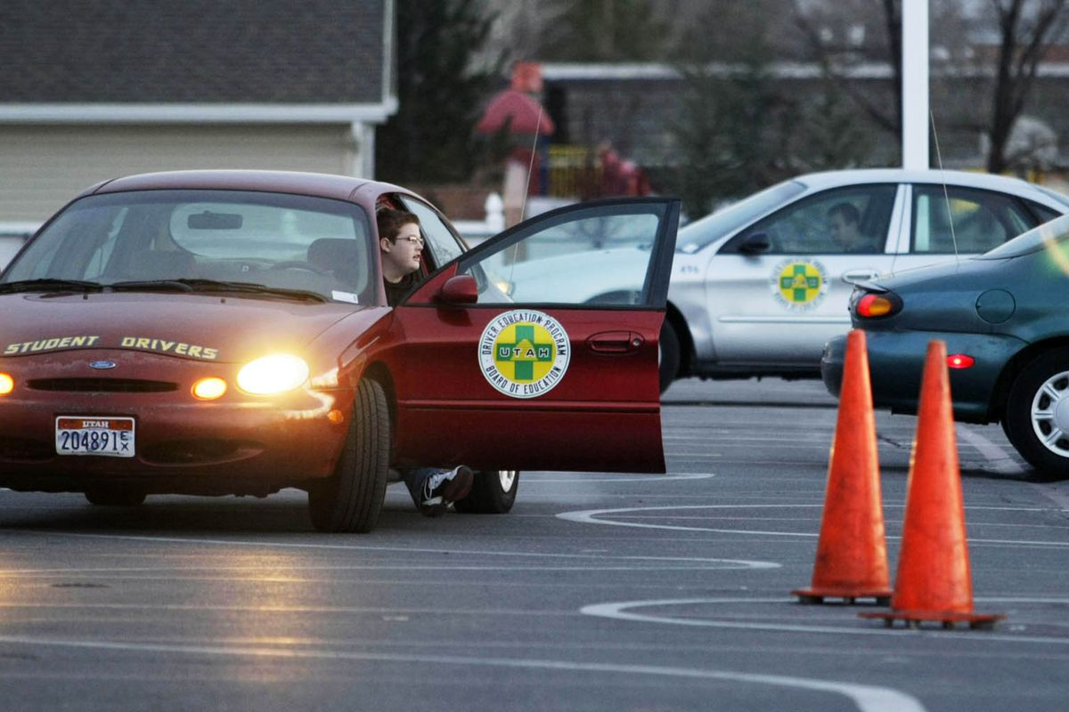 Drivers education students at Alta High School in Sandy are pictured in this 2010 file photo.