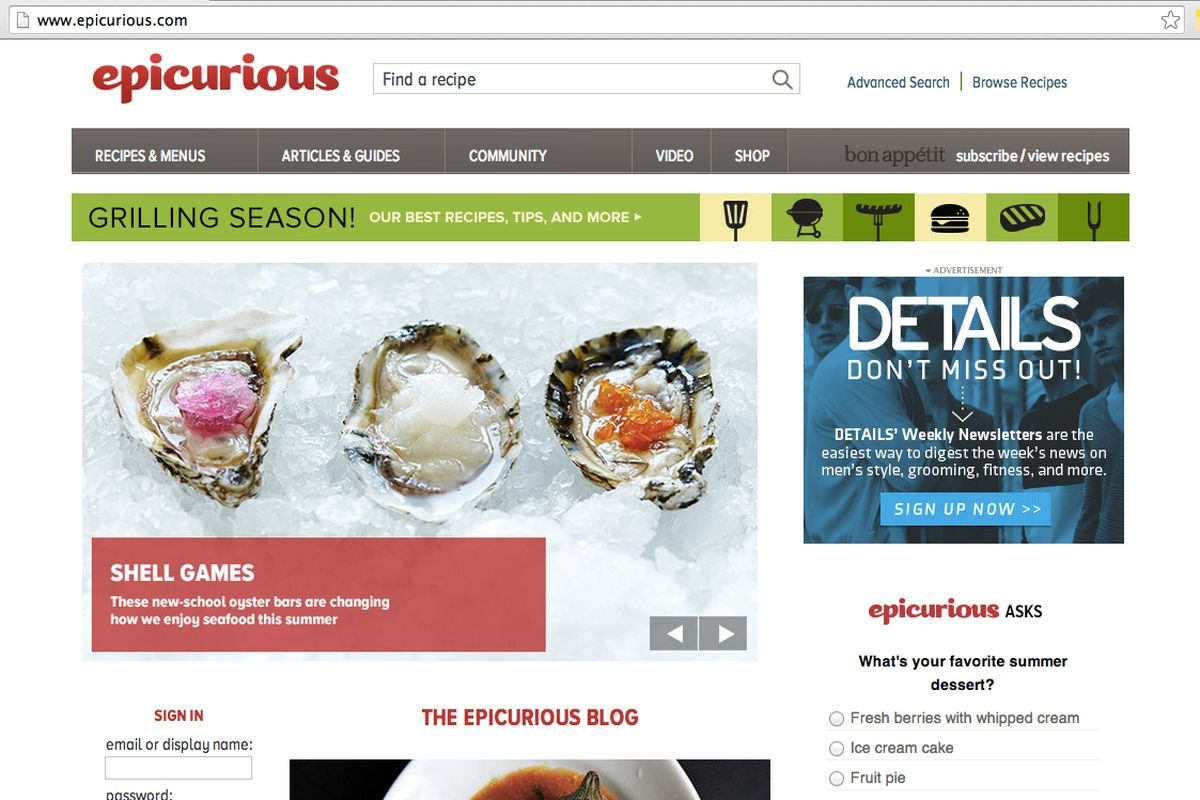 Cond nast folds epicurious into bon apptit eater multi media conglomerate cond nast has decided to group its recipe focused website and blog epicurious under its award winning food magazine bon forumfinder Choice Image