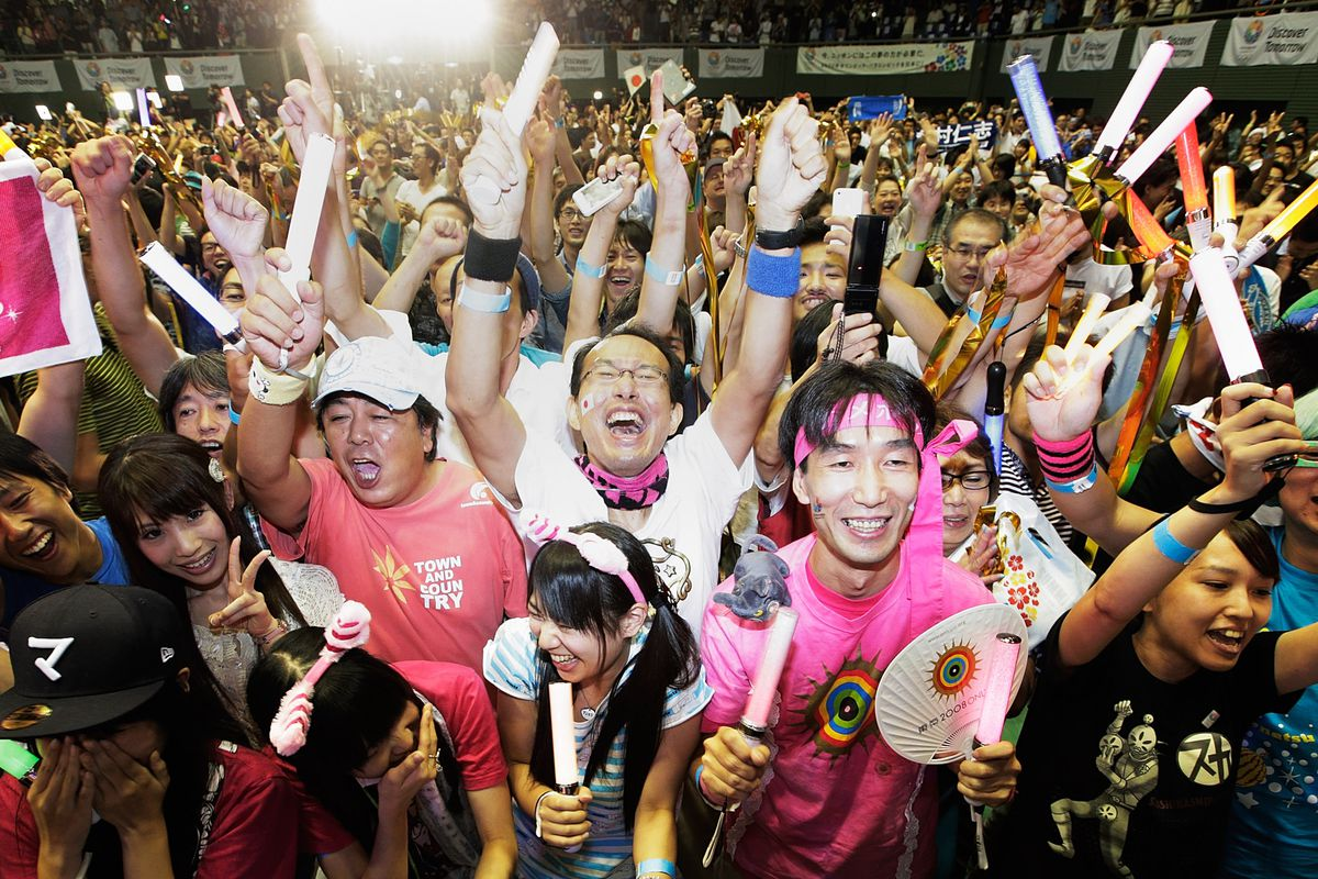 Japan residents celebrate the selection of Tokyo as the host of the 2020 Summer Olympics