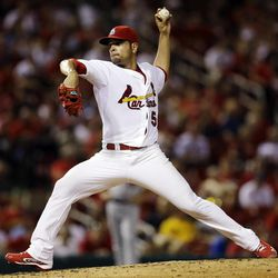 St. Louis Cardinals starting pitcher Jaime Garcia throws during the third inning of a baseball game against the New York Mets, Tuesday, Sept. 4, 2012, in St. Louis.
