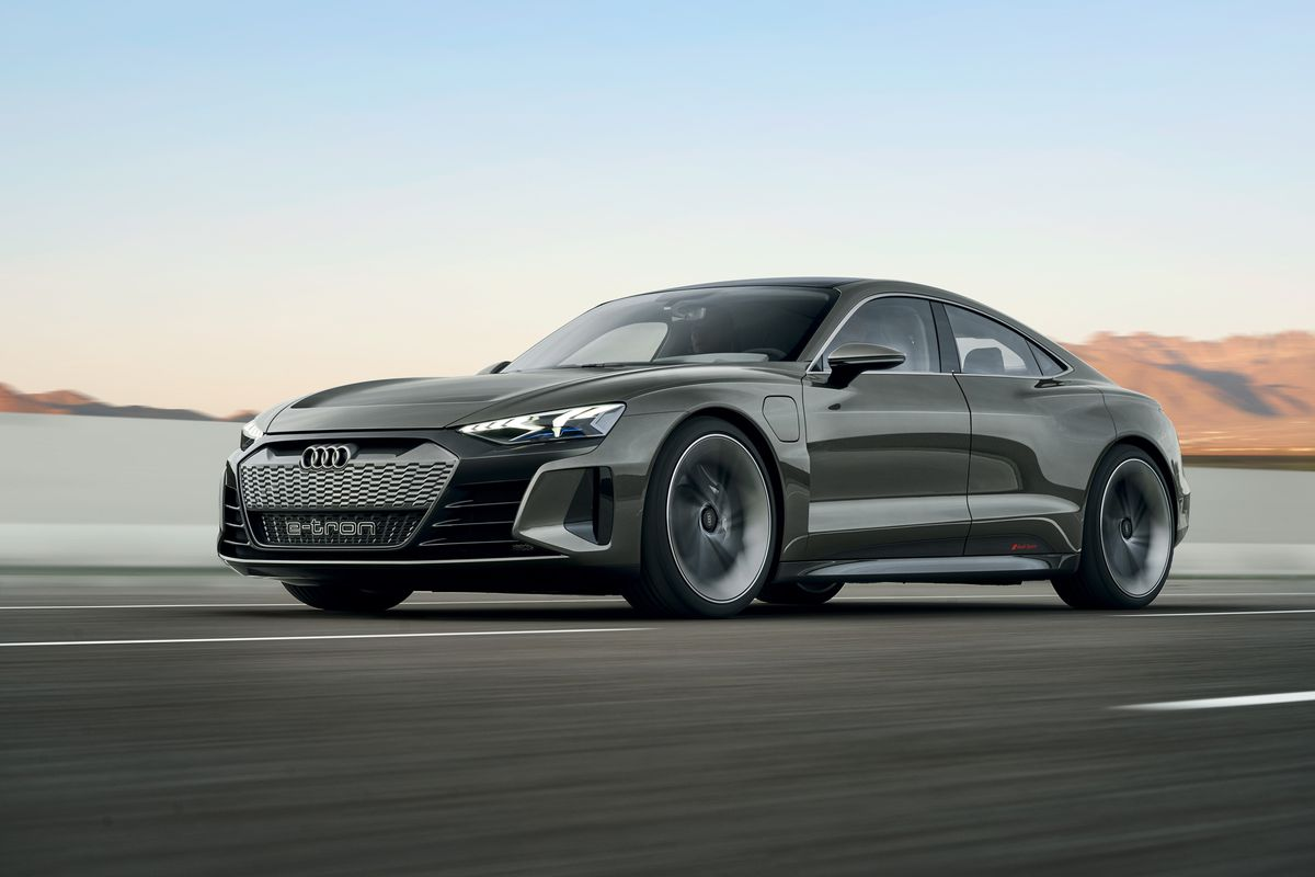 Audi's E-Tron GT concept is a 590-horsepower electric sedan