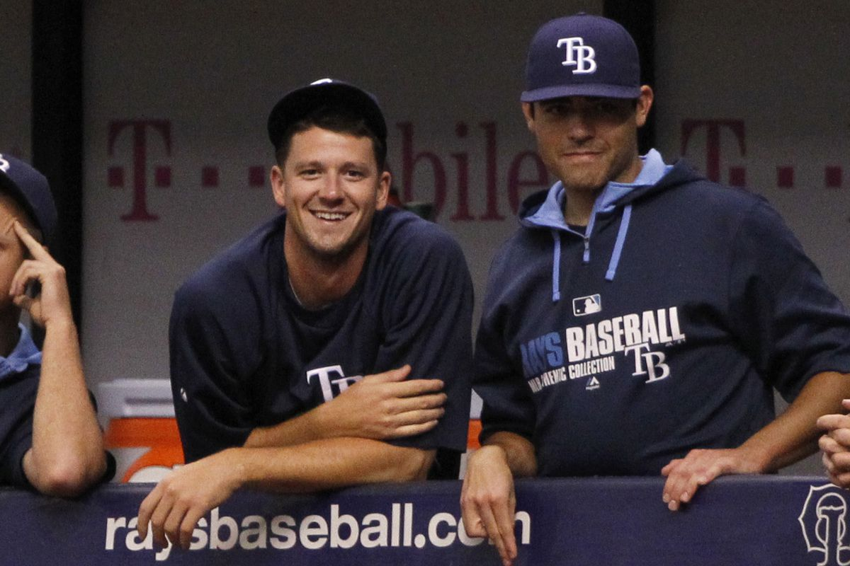 Matt Moore (right) starts Tuesday for the Rays, with Drew Smyly (left) starting Wednesday night.