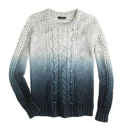 "J. Crew collection dip-dye sweater, <a href=""https://www.jcrew.com/womens_category/sweaters/Pullover/PRDOVR~B2227/B2227.jsp"">$398</a>"
