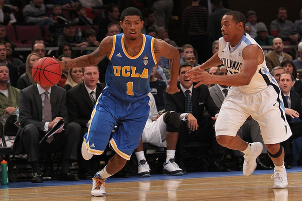 Tyler Lamb #1 will get the start tonight for a mildly injuried Tyler Honeycutt as UCLA plays UCI.   (Photo by Nick Laham/Getty Images)