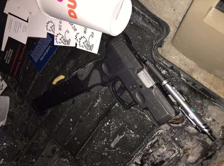 A gun recovered in the stolen car allegedly belonged to Johnson.