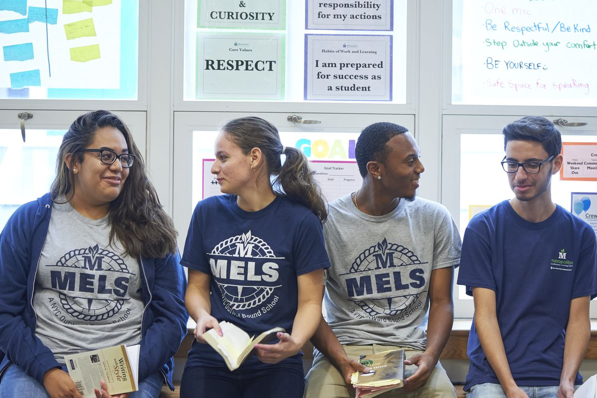 Students at the NYC Outward Bound school MELS, in Forest Hills, Queens.