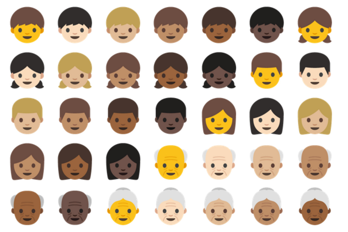 A closer look at android ns new emoji the verge google announced this week that its making a bunch of changes to the emoji in android namely its finally introducing emoji that look like people biocorpaavc Choice Image