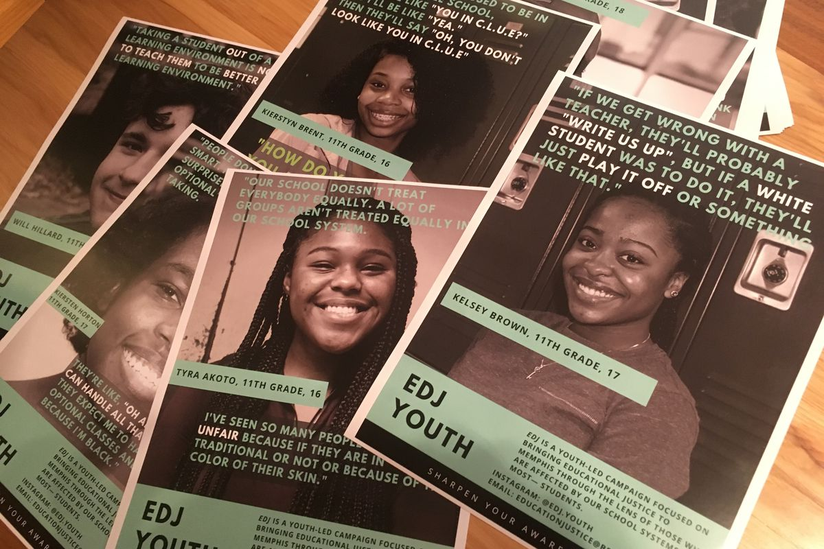 Posters created by junior Janiya Douglas have amplified student voices about the culture of White Station High School in Memphis.