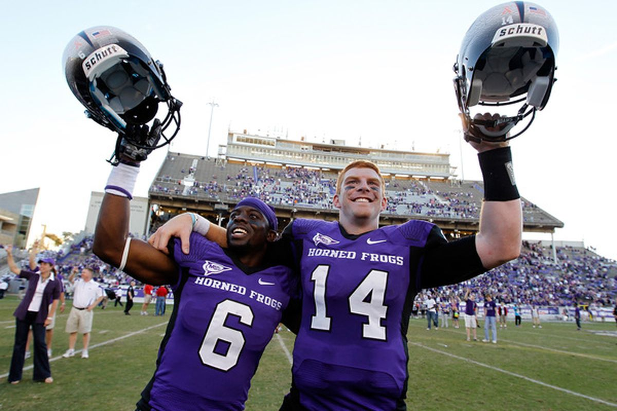 TCU Horned Frogs. 2010 Big East Football Champs. (Photo by Tom Pennington/Getty Images)