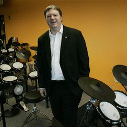 In this photo taken Thursday, Aug. 6, 2009, director Scott Booker is pictured in the drum classroom at the Oklahoma City campus of the Academy of Contemporary Music  in Oklahoma City.