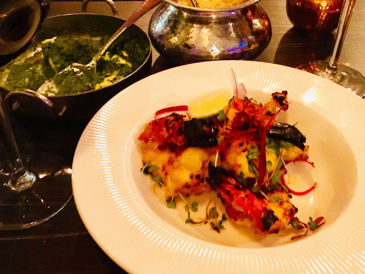 King prawns at Dhaba 49, one of the best north Indian restaurants in London