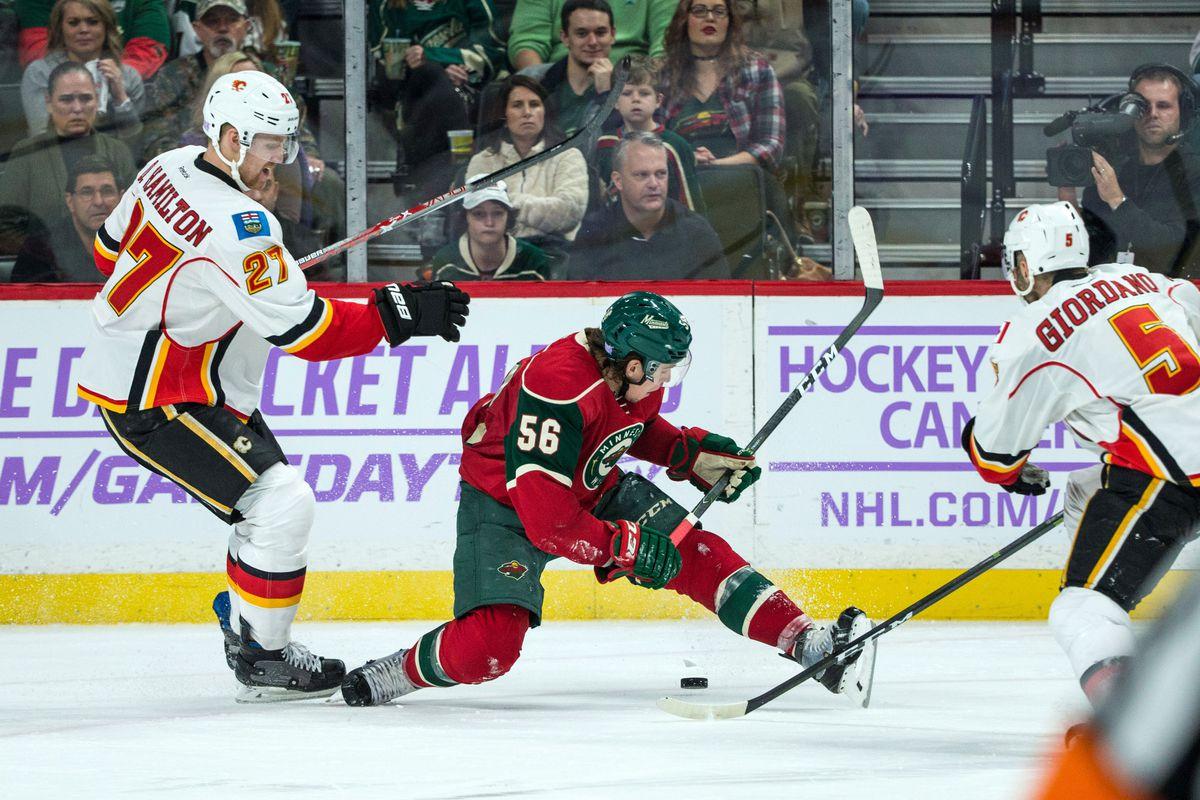NHL: Calgary Flames at Minnesota Wild