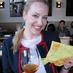 Courtney with Mickey D's and orange wine