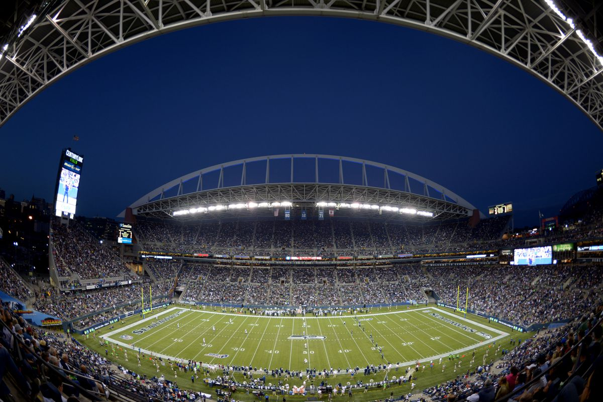 Aug 30, 2012; Seattle, WA, USA; General view of CenturyLink Field during the NFL game between the Oakland Raiders and Seattle Seahawks. Mandatory Credit: Kirby Lee/Image of Sport-US PRESSWIRE