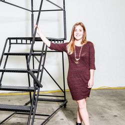 """<p><b>Gia Capetta, eBay's fashion coordinator,</b> is wearing a Zara dress, vintage necklace and Sixtyseven booties.</p><p>  <b>What is your work style?</b></p><p> """"Always comfortable, sometimes casual.My thoughts most mornings are:A chambray top and"""