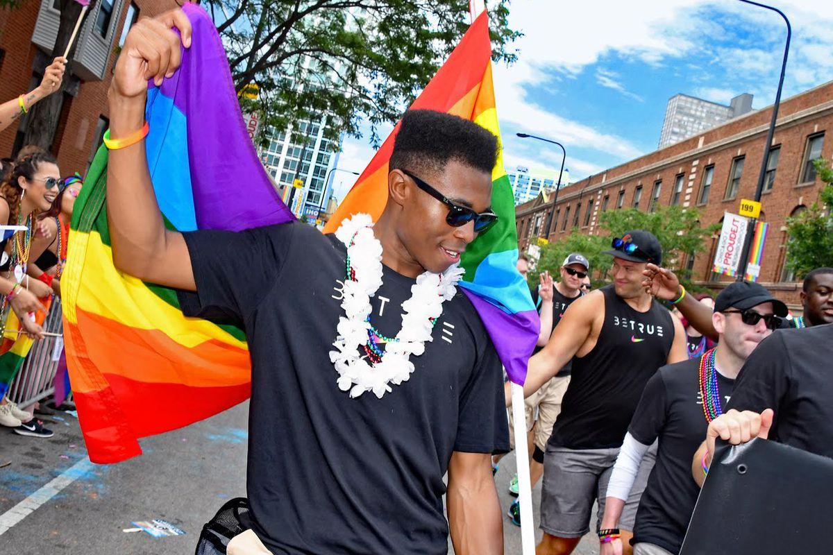 Spenser Clark pride parade