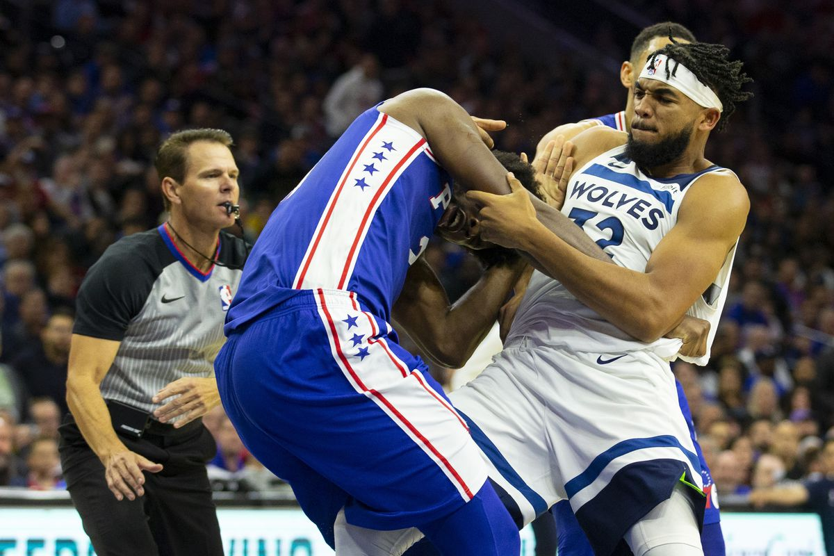 Joel Embiid Vs Karl Anthony Towns Nba Doesn T Mind