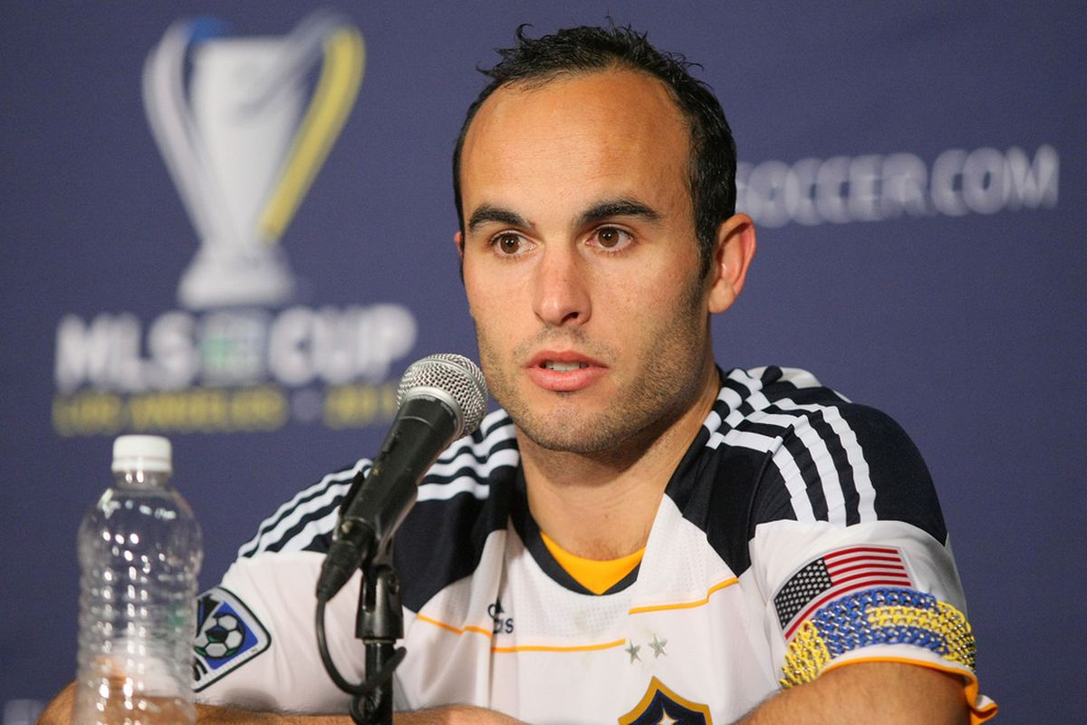 Landon Donovan is heading back to the Premier League to play for Everton on a loan from the LA Galaxy.  (Photo by Victor Decolongon/Getty Images)