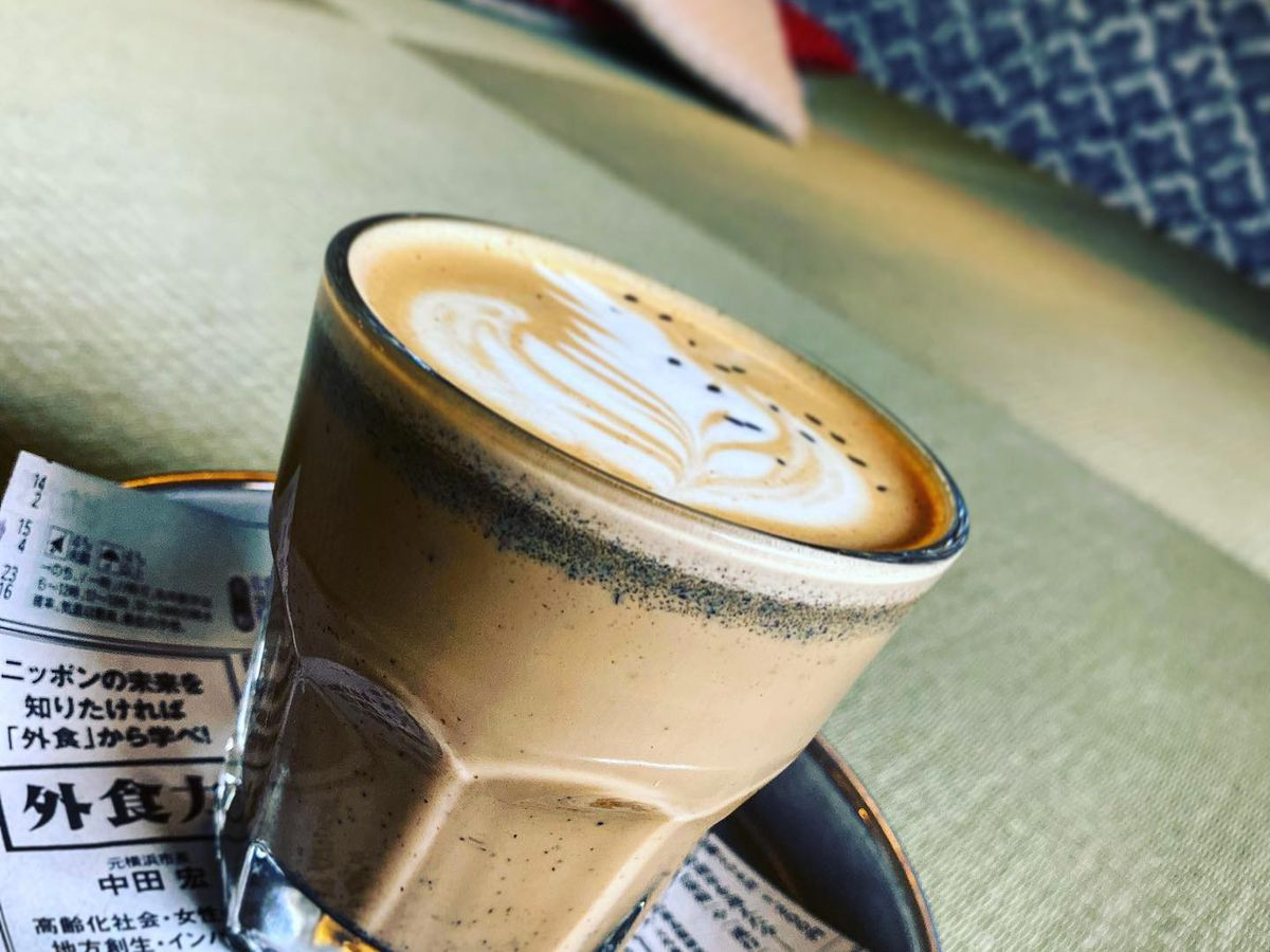 A coffee drink from Sa-Ten