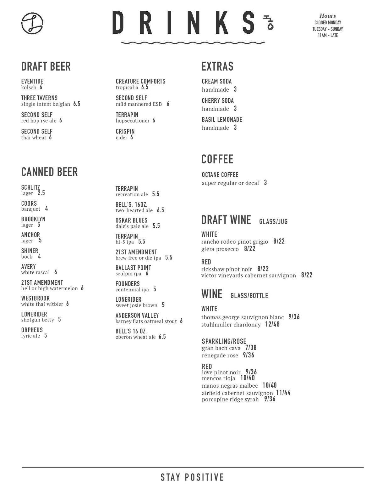 Ladybird lunch menu 2
