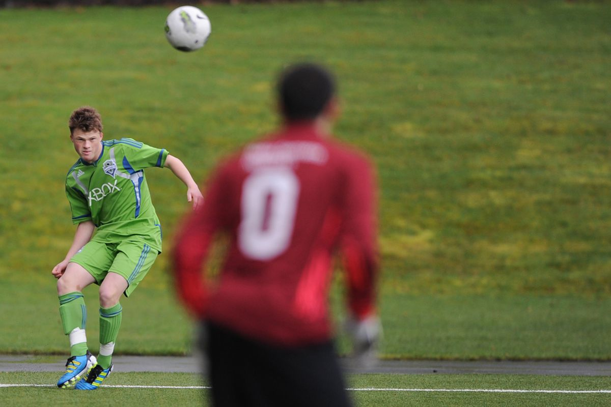 Austin Sweeney Supplied 2 Assists (Photo by: Chris Coulter/Seattle Sounders FC)